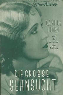 <i>The Great Longing</i> 1930 film by Steve Sekely