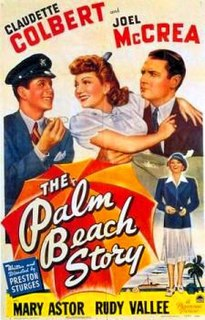 <i>The Palm Beach Story</i> 1942 film by Preston Sturges