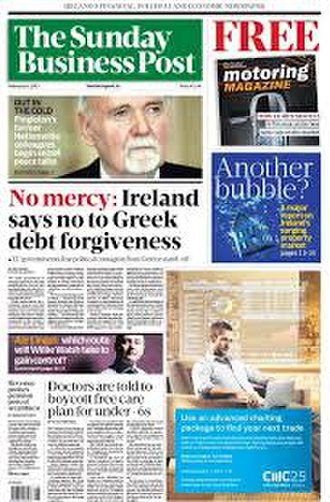 The Sunday Business Post - Front page 8 February 2015