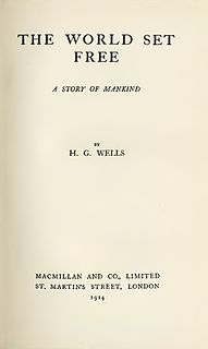 <i>The World Set Free</i> novel by H. G. Wells