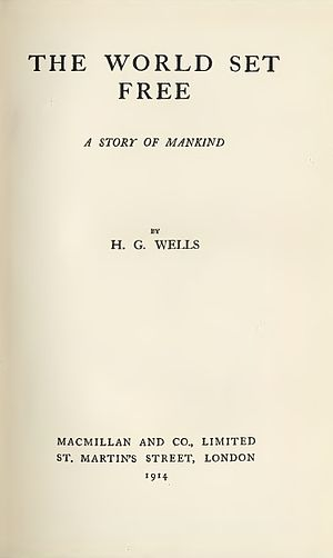 The World Set Free - Title page of the first edition