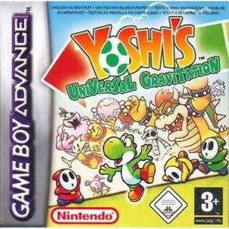 Yoshi's Universal Gravitation - European box art