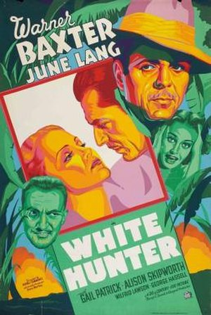 White Hunter (film) - Theatrical release poster