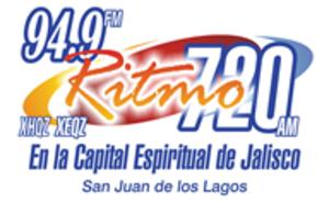 XHQZ-FM - Image: XHQZ Ritmo 94.9 logo