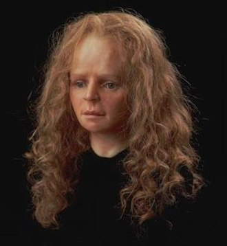 Yde Girl - 1992 facial reconstruction by artist Richard Neave