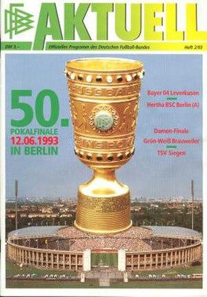 1993 DFB-Pokal Final - Image: 1993 DFB Pokal Final programme