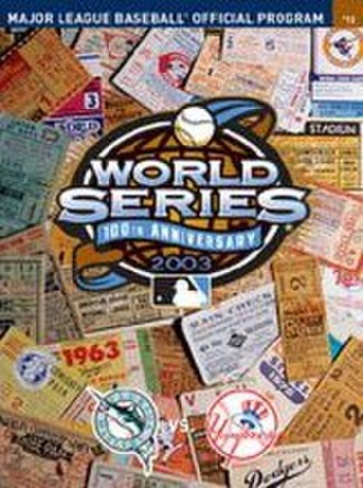 2003 World Series - Image: 2003 World Series Program