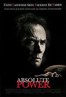 <i>Absolute Power</i> (film) 1997 American political thriller film directed by Clint Eastwood