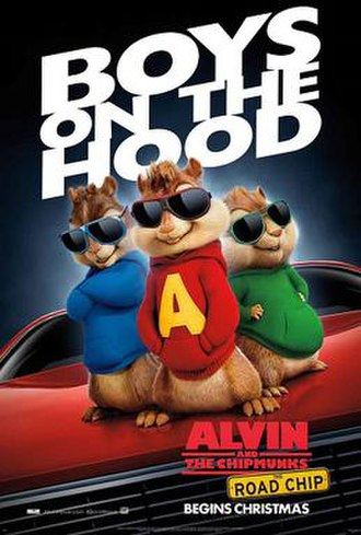Alvin and the Chipmunks: The Road Chip - Theatrical release poster