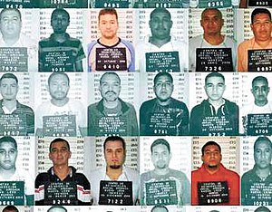 Apodaca prison riot - Mug shots of the Zeta fugitives.
