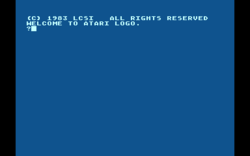 Screenshot of Atari LOGO after startup