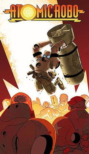 Atomic Robo - Cover art for Atomic Robo Volume One. Art by Scott Wegener