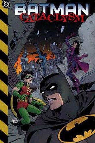 Batman: Cataclysm - Cover of Batman: Cataclysm trade paperback. Art by Matt Hollingsworth.