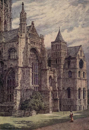 William Biscombe Gardner - Canterbury Cathedral, south side.