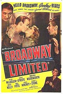 <i>Broadway Limited</i> (film) 1941 film by Gordon Douglas