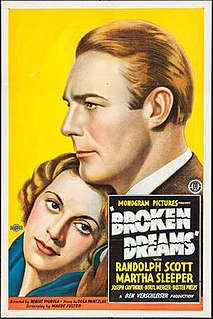 <i>Broken Dreams</i> (1933 film) 1933 film by Robert G. Vignola