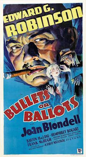 Bullets or Ballots - 1936 Theatrical Poster
