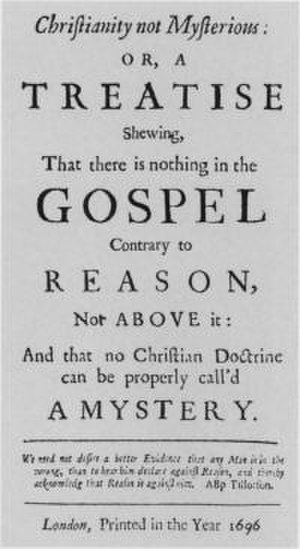 Christianity not Mysterious - Image: Christianity not mysterious
