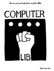 Computer Lib cover by Ted Nelson 1974.png