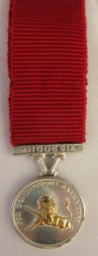Conspicuous Gallantry Decoration (Rhodesia) - Image: Conspicuous Gallantry Decoration