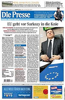 <i>Die Presse</i> daily broadsheet newspaper based in Vienna, Austria