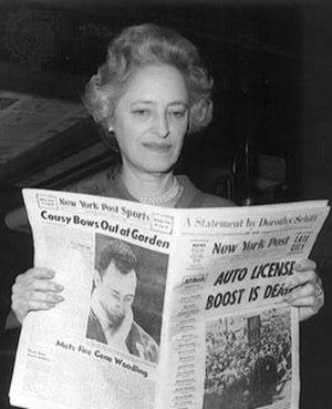 Dorothy Schiff - Image: Dorothy Schiff holding New York Post