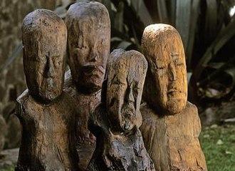 El Manatí - Image: El Manati Wooden Busts