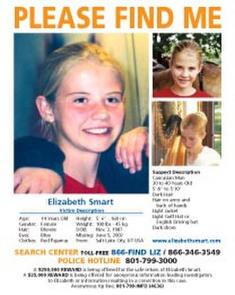 Kidnapping of Elizabeth Smart - Smart's missing person flyer distributed by the Federal Bureau of Investigation