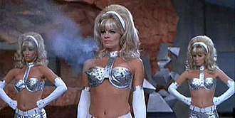 Gynoid - Exaggeratedly feminine fembots with guns in their breasts, from the film Austin Powers: International Man of Mystery.