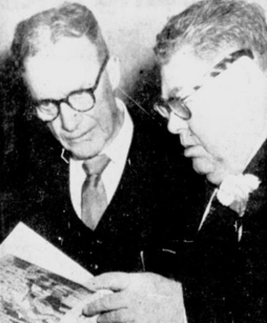 Harry Costello - Harry Costello (right) with former coach Frank Gargan in 1957