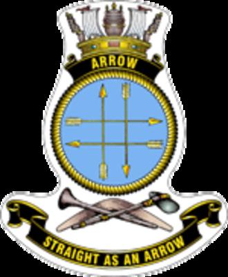 HMAS Arrow (P 88) - Ship's badge
