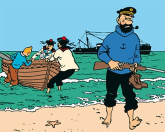 Red Rackham's Treasure - Hergé deemed this frame from the story to be one of his two favourites from the entire Adventures of Tintin.