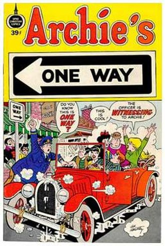 Al Hartley - The Hartley written-and-drawn Archie's One Way (Spire Christian Comics). Reissued at different price points, 1972 to circa 1977. This 39¢ version is from 1973.