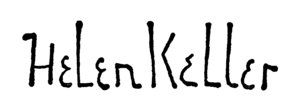 Signature of Helen Keller (1880-1968)