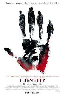 <i>Identity</i> (2003 film) 2003 American film directed by James Mangold