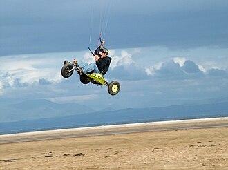 Kite buggy - Buggy jump