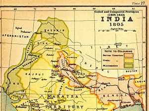 Ceded and Conquered Provinces - Image: India 1805Ceded Conquered Provinces