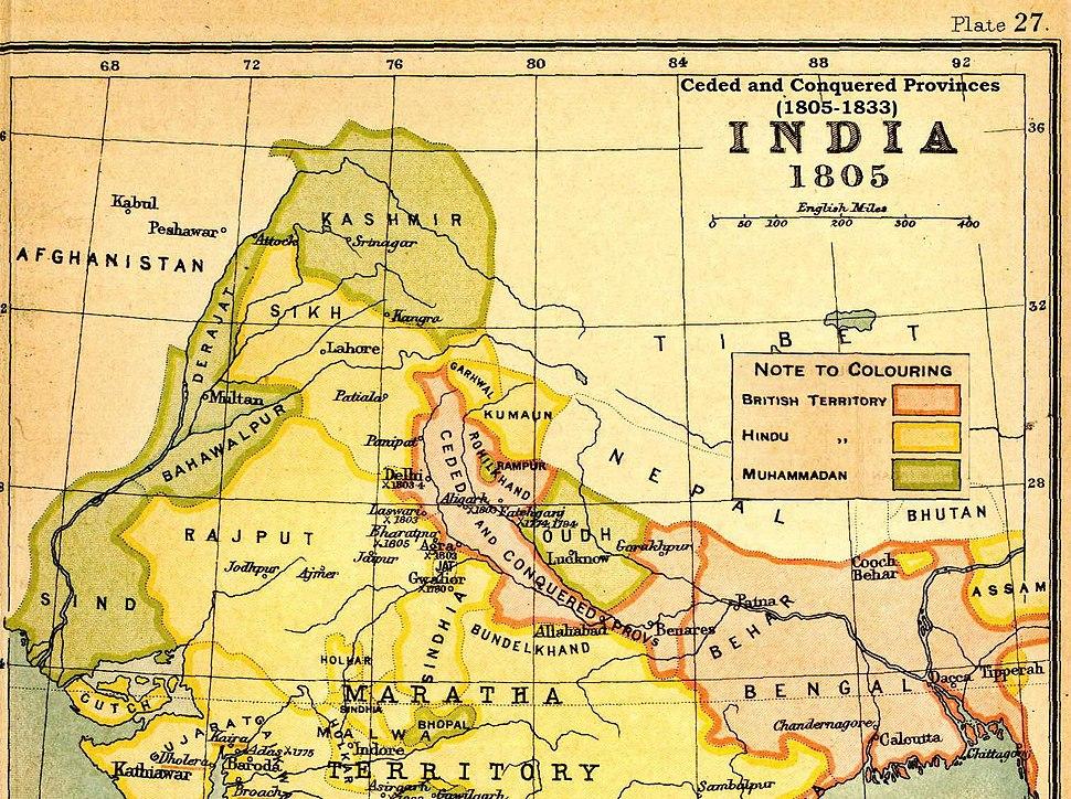 Location of Agra