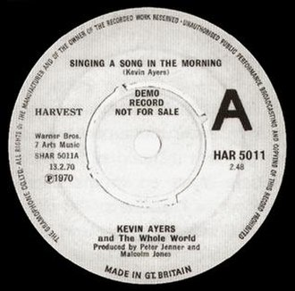 Singing a Song in the Morning - Image: Kevin Ayers Singing A Song In The Morning
