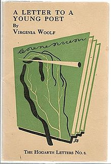 <i>A Letter to a Young Poet</i> letter by Virginia Woolf