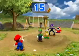 Mario Party 8 - Chump Rope, one of the 1 vs. 3 minigames in Mario Party 8.