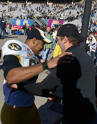 Martin Rucker (American football) - Martin Rucker hugs a fan following the 2008 Cotton Bowl Classic.