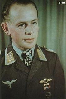Max Stotz German, Austrian born, World War II fighter pilot