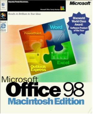 Microsoft Office 98 Macintosh Edition - Image: Microsoft Office 98 Macintosh Edition