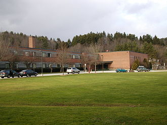 Montpelier High School (Vermont) - South side of MHS