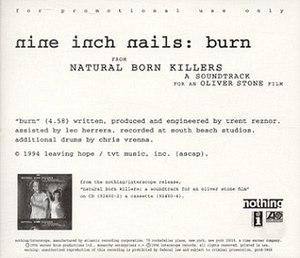 Burn (Nine Inch Nails song) - Image: NI Nburn