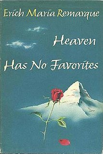 <i>Heaven Has No Favorites</i> Book by Erich Maria Remarque