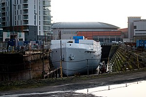 SS Nomadic (1911) - Nomadic during her restoration in November 2011