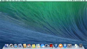 OS X Mavericks - Image: OS X Mavericks Desktop