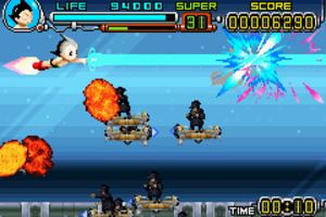 Astro Boy: Omega Factor - Astro defeats aerial enemies.